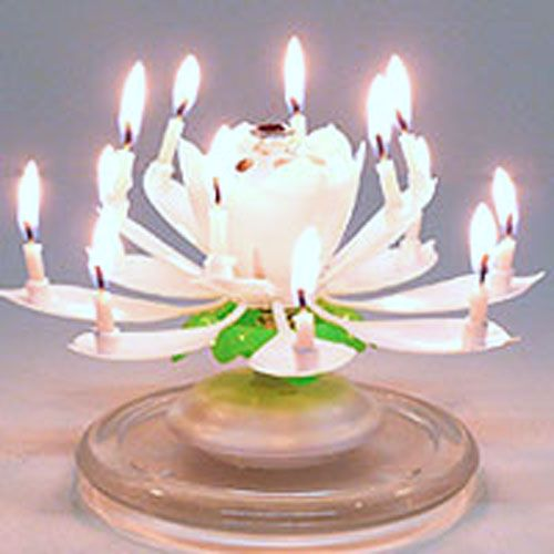 Amazing Musical Flower Birthday Candle 595 Lotus Soccer