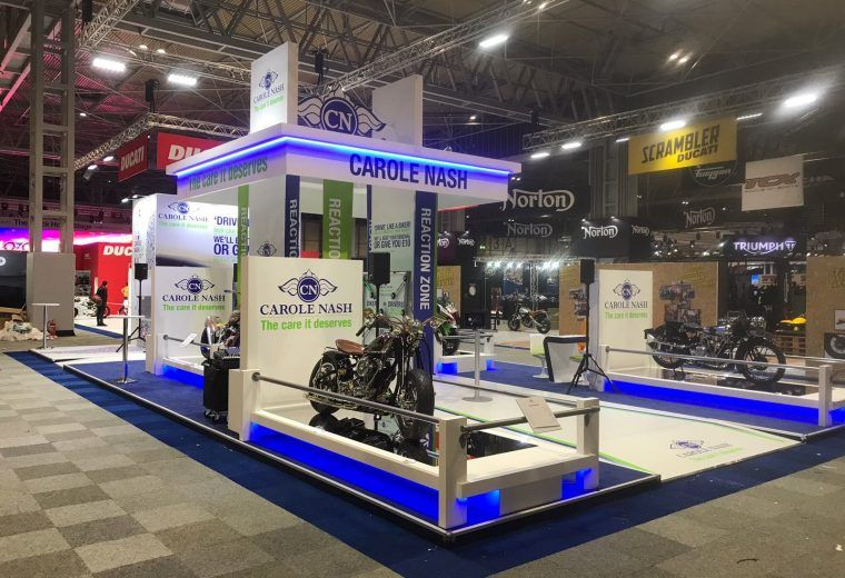 Exhibition Stand Insurance : Stand design and build at the nec birmingham for motorcycle live