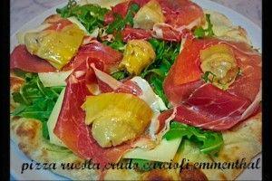 Pizza rucola, crudo, carciofini e emmenthal   Una cucina da single ...