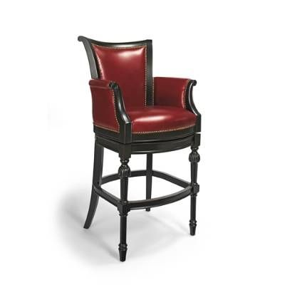 Chesterfield Offers Rare Neoclassic Styling In A Fully Upholstered Barstool Its Regal Bearing Is Achieved Bar Stools Traditional Bar Stool Leather Bar Stools
