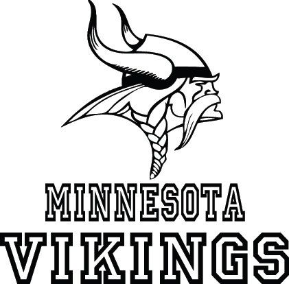 Minnesota Vikings Football Logo Name Custom Vinyl By VinylGrafix - Custom vinyl decals minnesota
