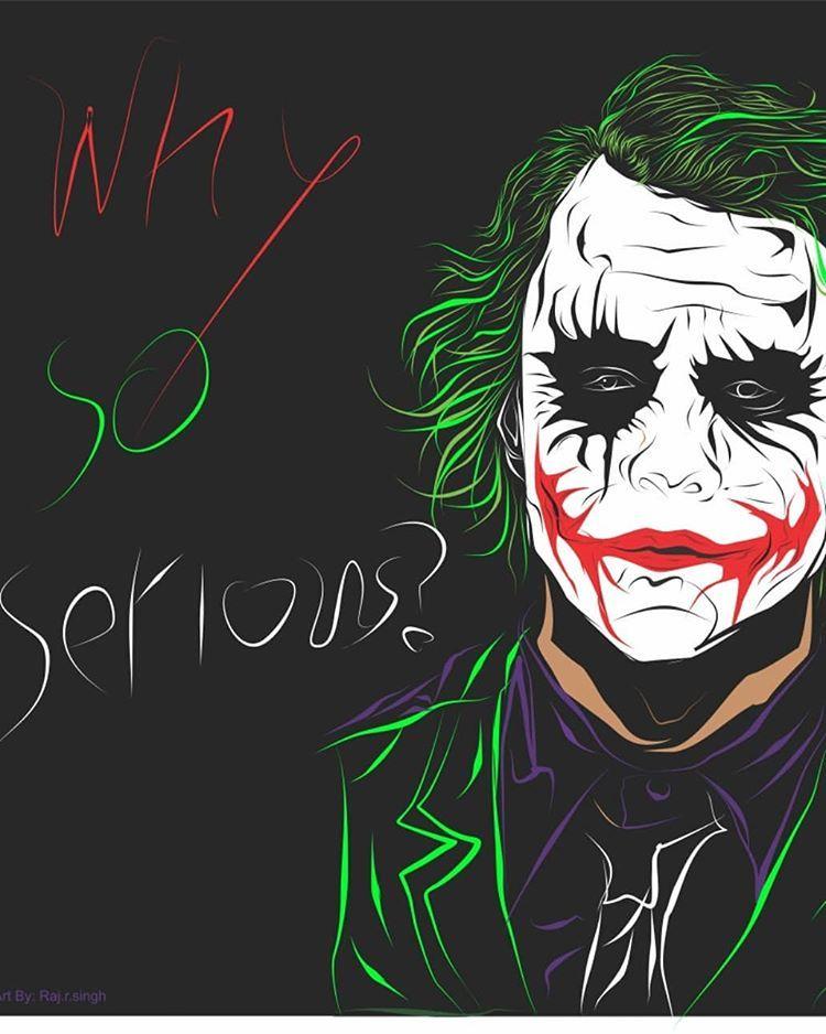 Why So Serious Behance Riopurba Satuharisatudesain Coreldraw Artist Graphicdesign Design Digitalartist Log Joker Wallpapers Joker Pics Joker Drawings