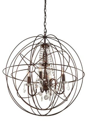 Artcraft Lighting CL1505 Carnaby Street 5-Light Chandelier, 28-Inch x 29-Inch, Bronze - Amazon.com $565