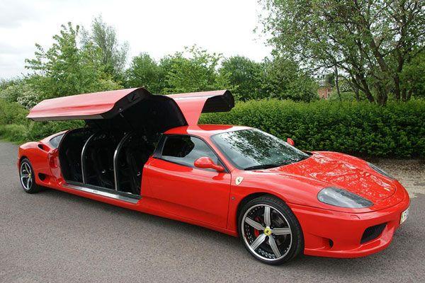 10 Extreme Stretched Out Limousines Ferrari 360 Ferrari Limo