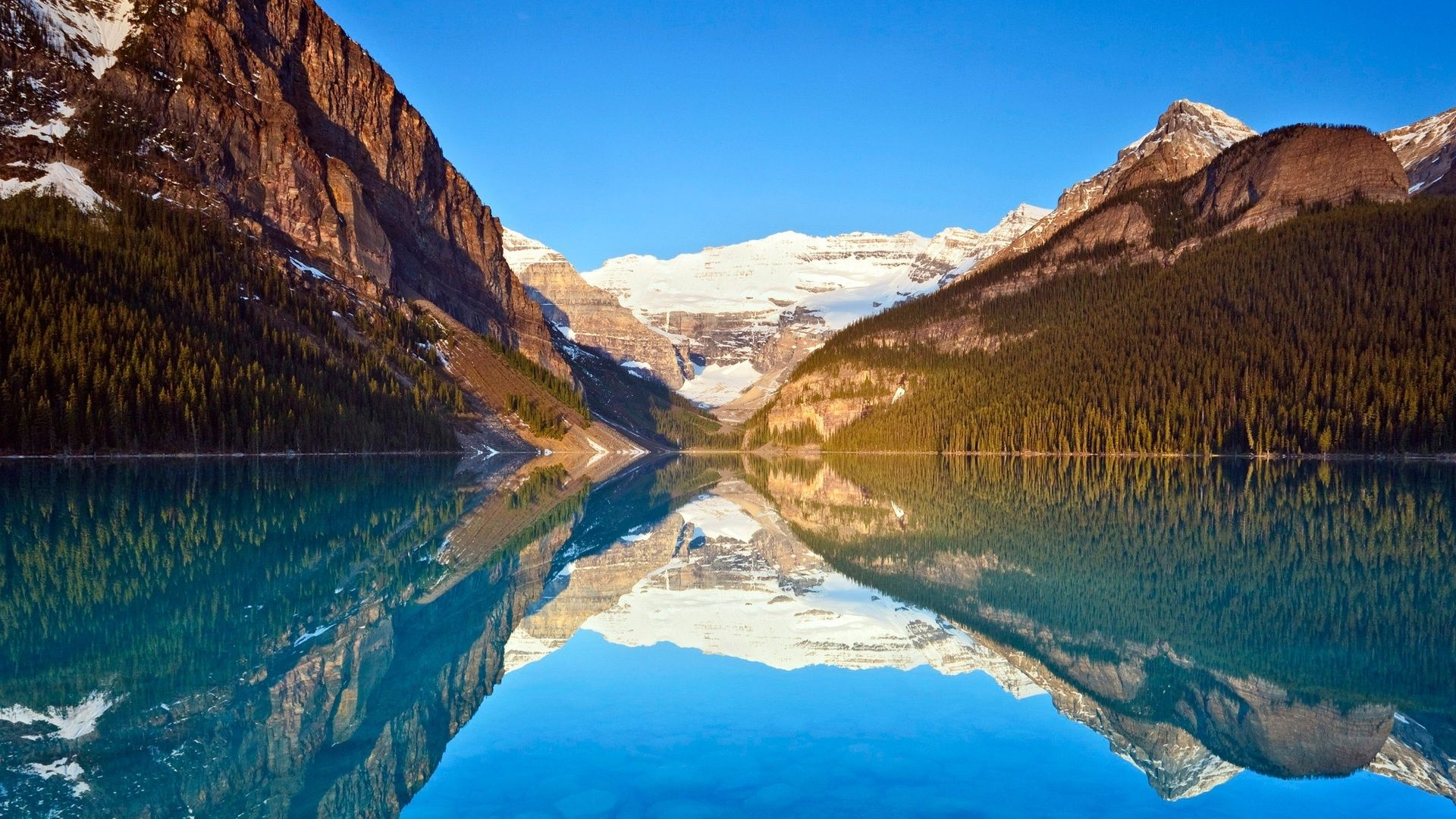 Lake Louise Landscape Wallpaper Wallpaper Windows 10 Nature Wallpaper