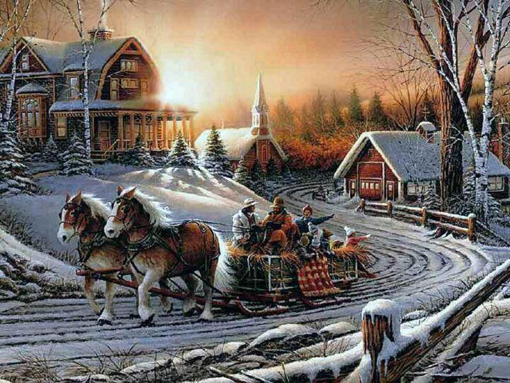 Artist Terry Redlin | Christmas and Winter Inspiration | Pinterest ...