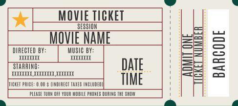 19 Movie Ticket Templates Ideas Movie Ticket Template Ticket Template Movie Tickets