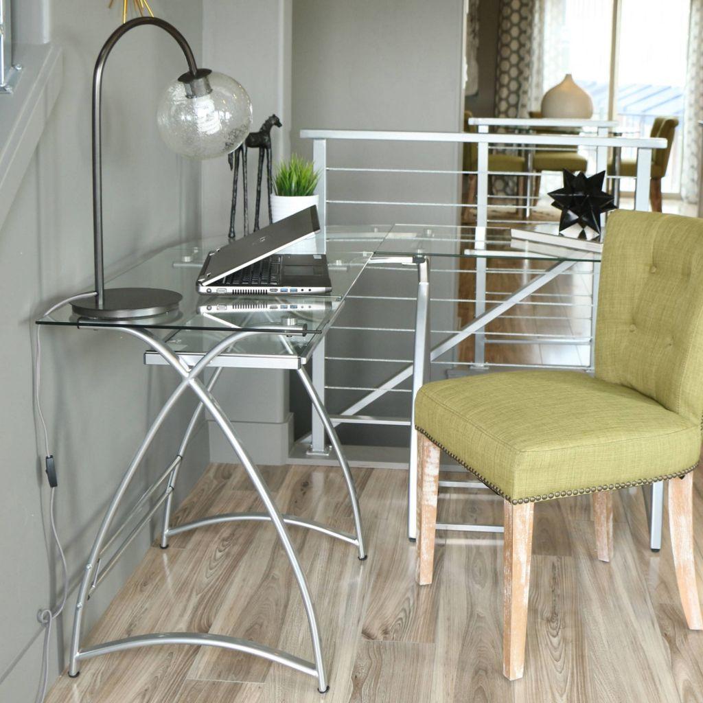 Glas Metall Eck Computertisch in mehreren Farben ashley Möbel home ...