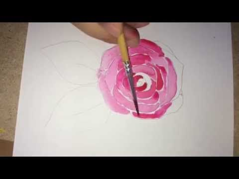 How To Draw And Paint A Rose Super Easy Youtube Roses