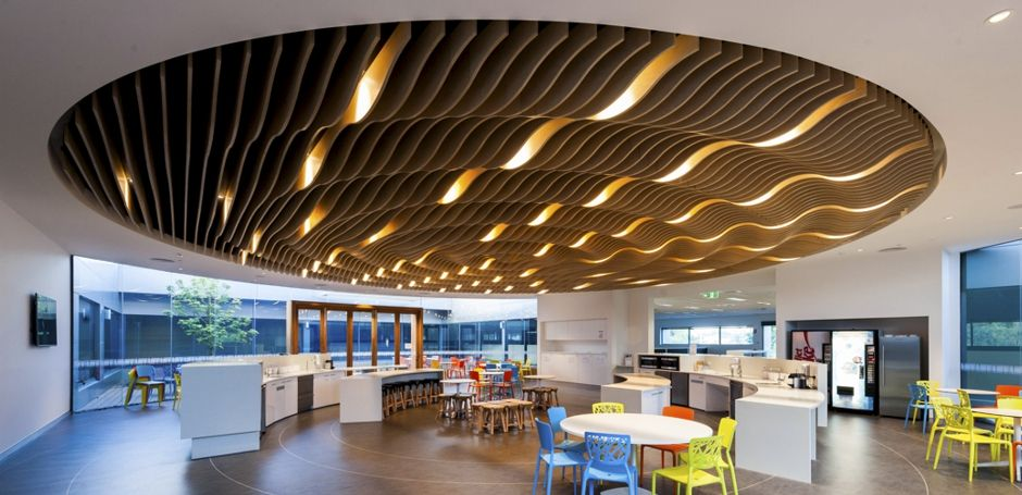 Supaslat Ripple Blade Circular Ceiling Architecture In