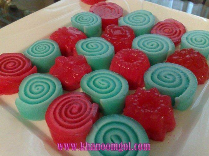 ژله رولی یا فرفره ای Jelly Desserts Food