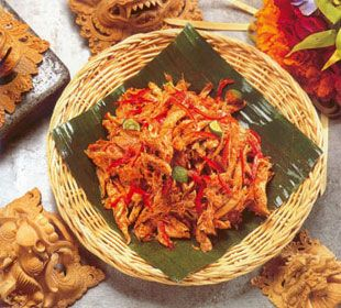 AYAM PELALAH  (Shredded Chicken with Chilies & Lime)  Balinese Food