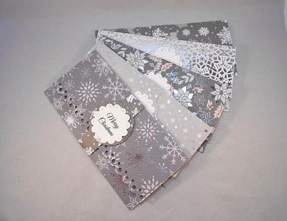 5 Holiday Money Holders Christmas Cash Envelope Gift Card Etsy Holiday Money Holder Gift Card Holder Christmas Money