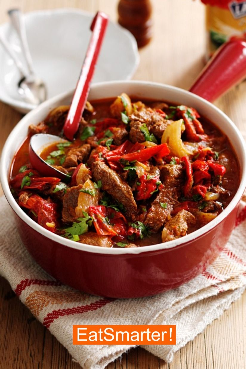 Leckere Rezepte zum Mittagessen: Paprika-Rindfleischpfanne   EAT SMARTER