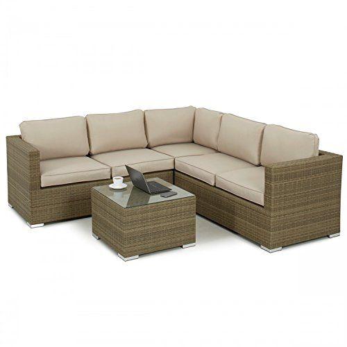 Sienne Baby Rattan Garden Furniture Porto Corner Set | Rattan ...