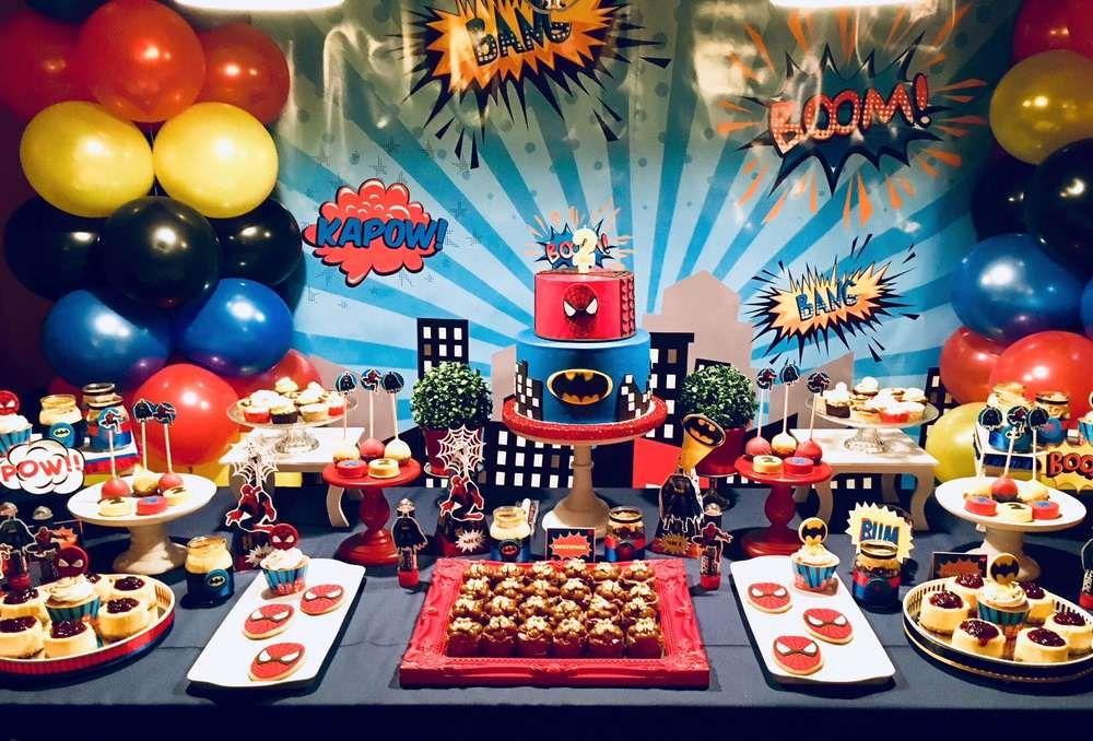 Spiderman Batman Birthday Party Ideas Spiderman Birthday Party