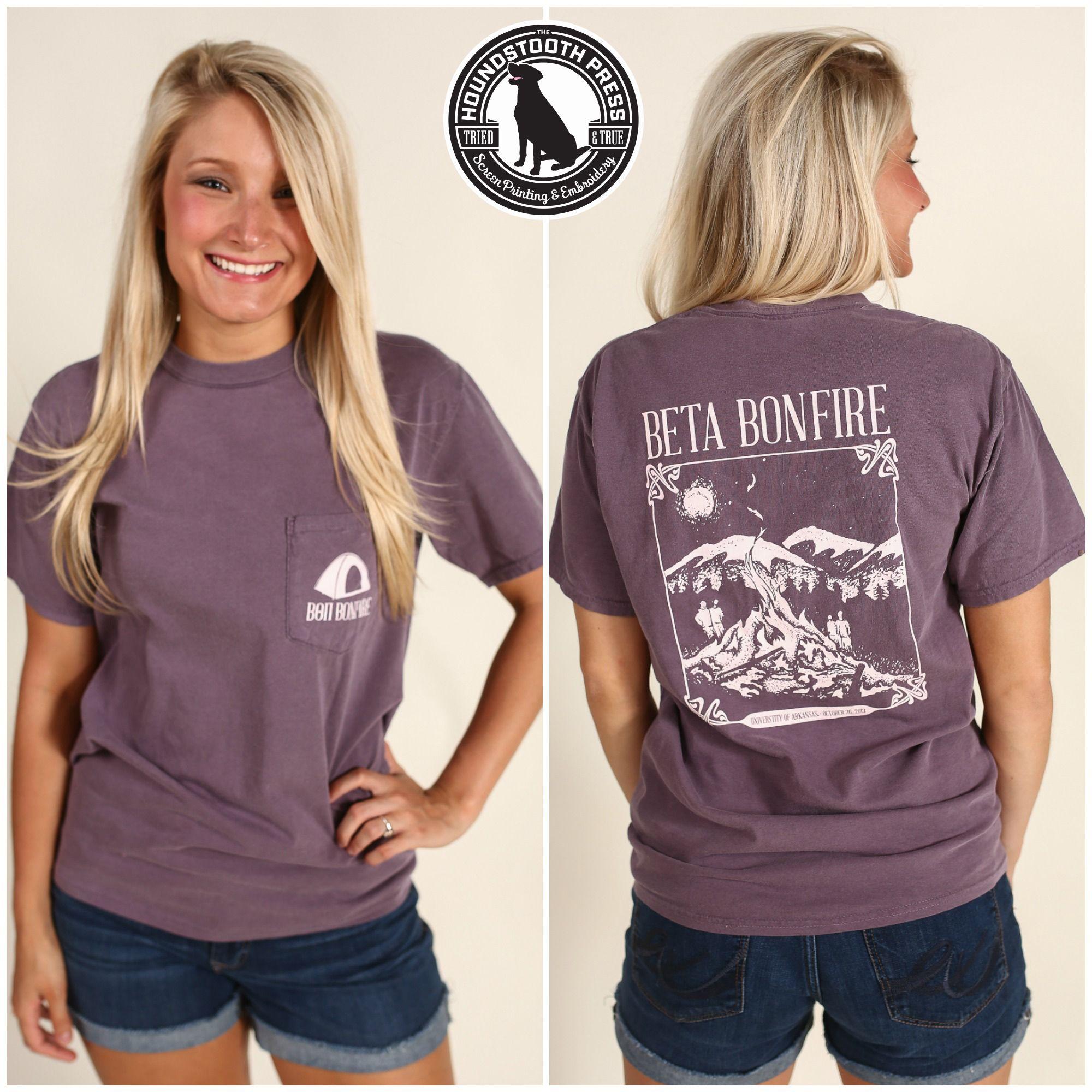 University Of Aransas Beta Theta Pi Bonfire T Shirt Comfort
