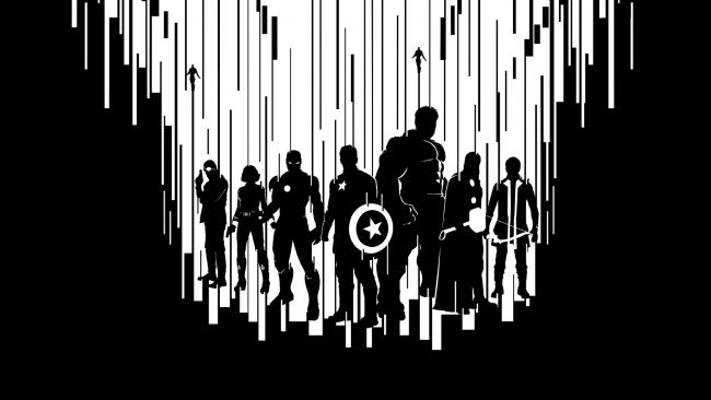 Full Hd Wallpaper Avengers Age Of Ultron Black And White Main Characters Desktop Backgrounds Hd 1080p Avengers Wallpaper Marvel Wallpaper Marvel Artwork