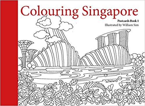 Colouring Singapore Postcards William Sim 9789814779883 Amazon Com Books Postcard Book Postcard Coloring Books
