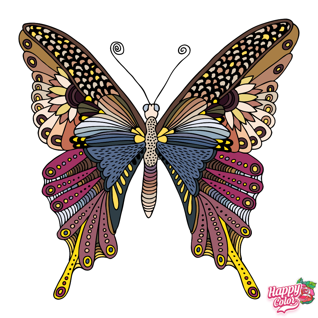 2 28 2019 Muted Butterfly Colorful Art Butterfly Drawing Coloring Book App