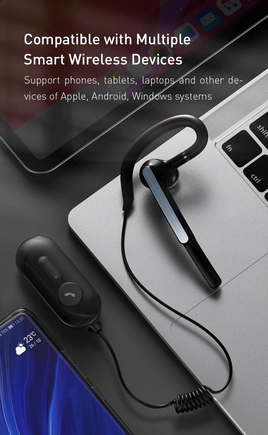 Baseus A10 Bluetooth Headset Aptx Wireless Bluetooth Earphone Ai Smart Handsfree Business Headset With Hd Mi Waterproof Bluetooth Bluetooth Earphones Handsfree