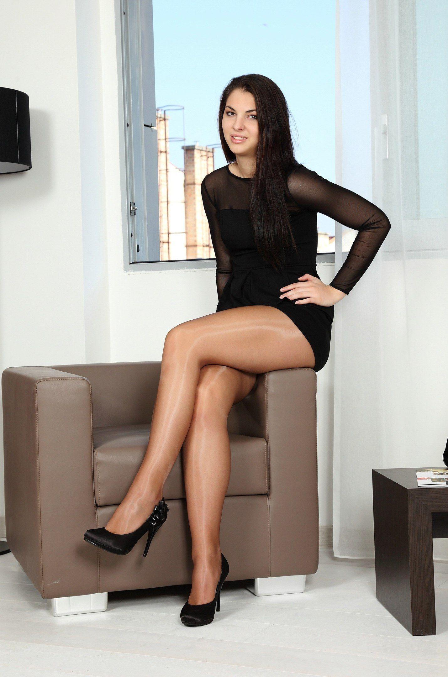 Nice legs in pantyhose