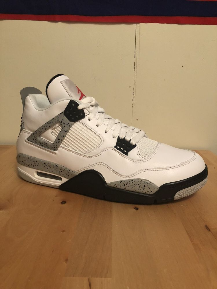 b88bef89d743ef Nike Air Jordan 4 Retro OG White Cement Red Black Grey 840606-192 Size 13 B   fashion  clothing  shoes  accessories  mensshoes  athleticshoes (ebay link)