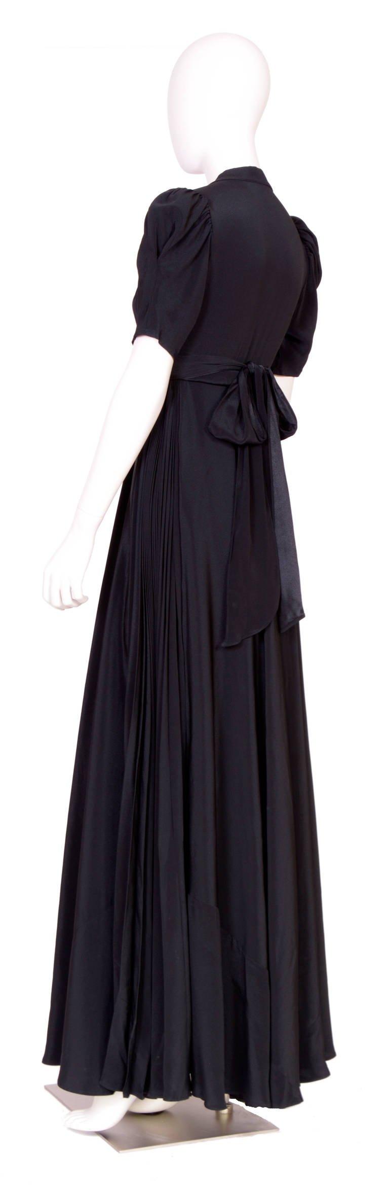 Vintage ossie clark for quorum black wrap dress ossie clark wrap