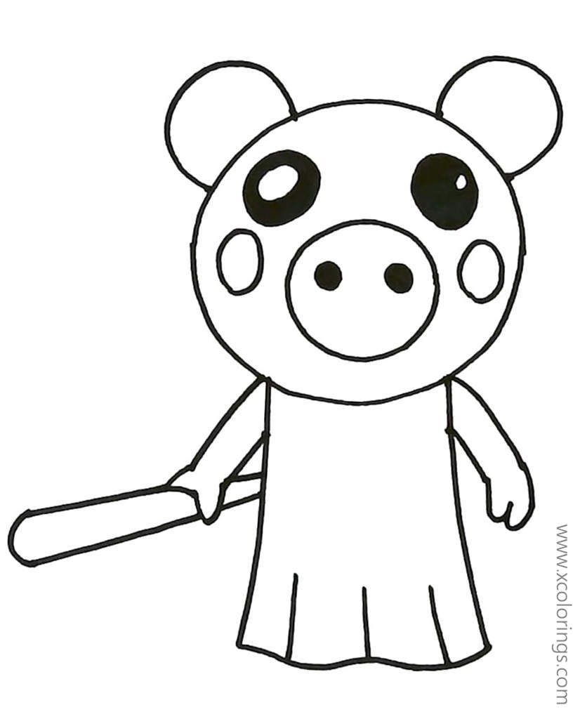 Piggy Roblox Peppa Pig Coloring Pages Peppa Pig Coloring Pages Cool Coloring Pages Coloring Pages