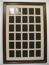 30 HOLE BASEBALL CARD DISPLAY FRAME AND MAT Horizontal Or Vertical WOODEN