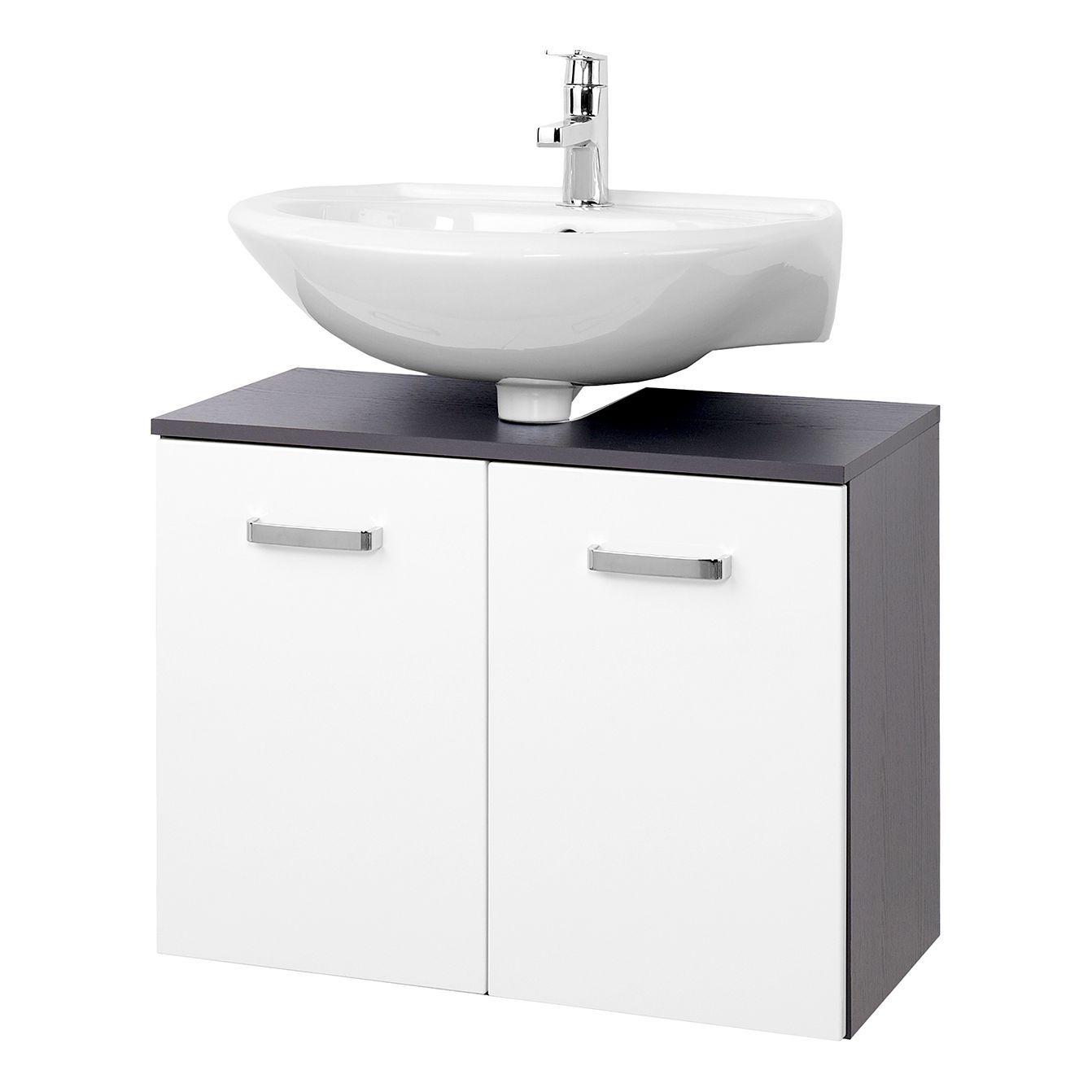 Badideen in grau und weiß waschbeckenunterschrank zeehan i  weiß  grau   cm giessbach