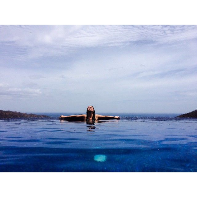 Relax in our beautiful infinity pool at Casa De Los Suenos. Located in Hermosa Heights, Guanacaste Costa Rica.