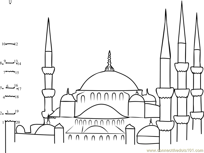 free mosque coloring pages - photo#16