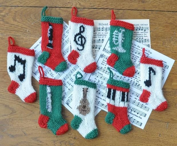 Musical Christmas Stocking Ornaments Knitting Patterns For Ornaments