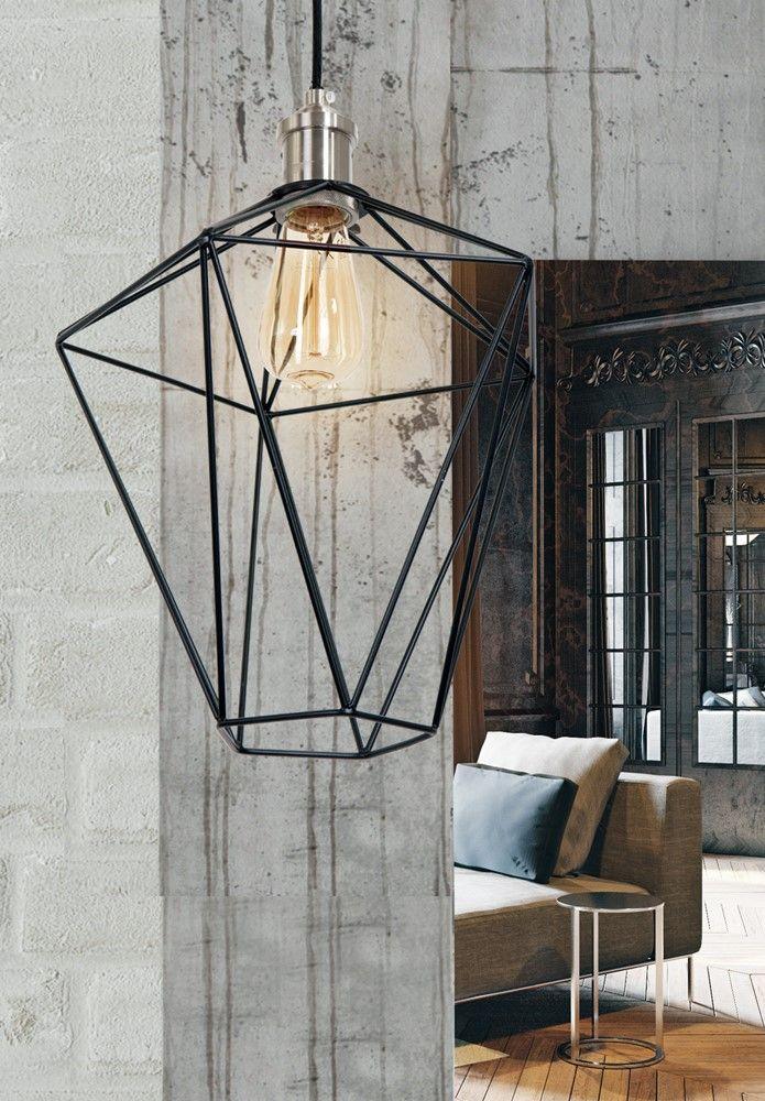 Mini pendelleuchte 1 flammig wired lampe im retro stil for Lampe mit mehreren schirmen
