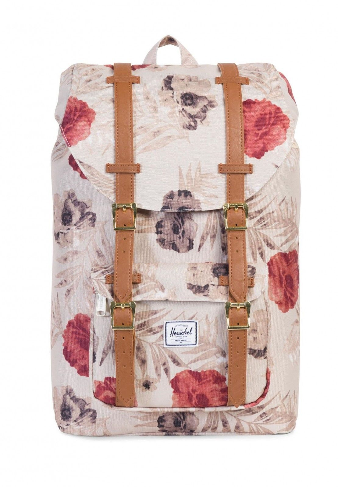 d0a41585b658 modeherz ♥  Herschel Little America Mid-Volume Backpack Pelican Floria   Tan