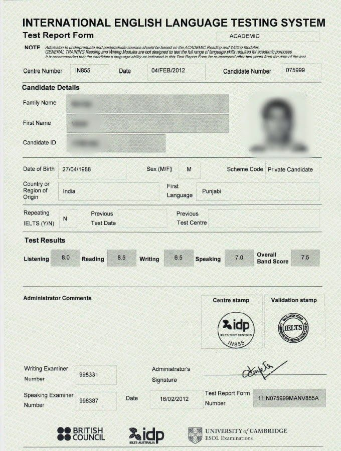 IELTS For Immigration 101 Do I Need to Submit an Original Copy of - copy meaning of blueprint in education