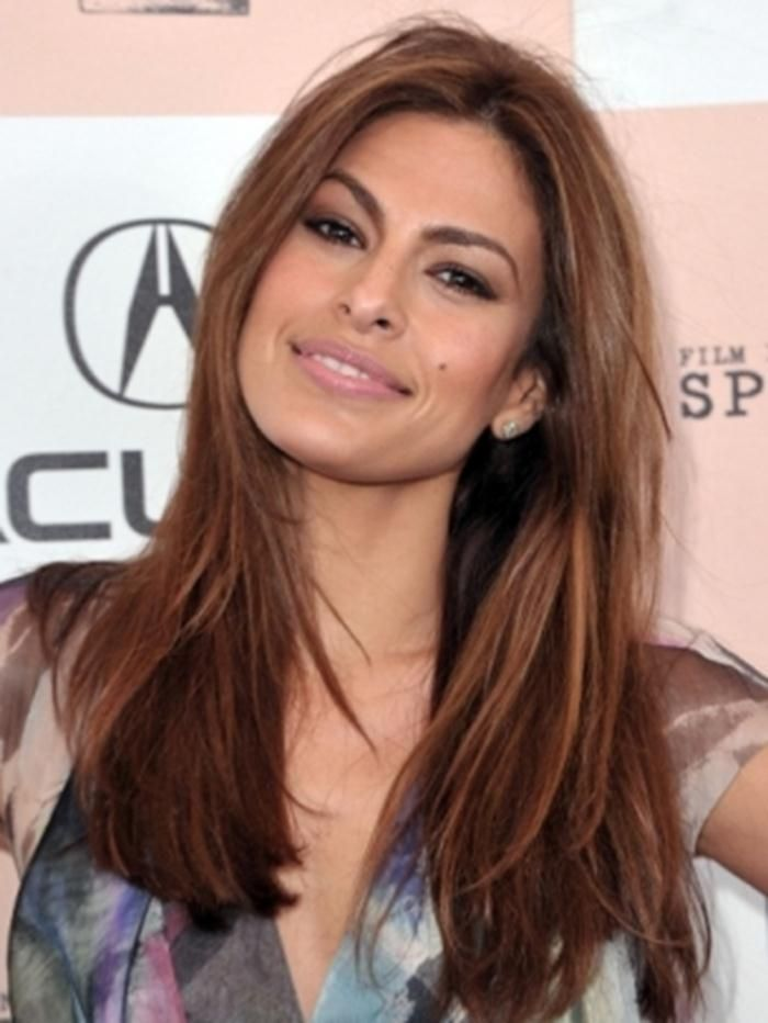 Light Brown Hair Colors For Warm Skin Tones Hair Color For Brown Eyes Olive Skin Hair Eva Mendes Hair