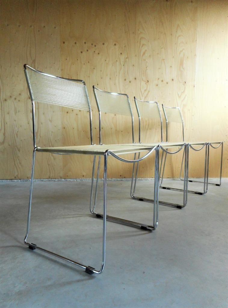 Design Stoelen Tweedehands Marktplaats.4 X Vintage Design Spaghetti Stoel Draadstoel Stoelen