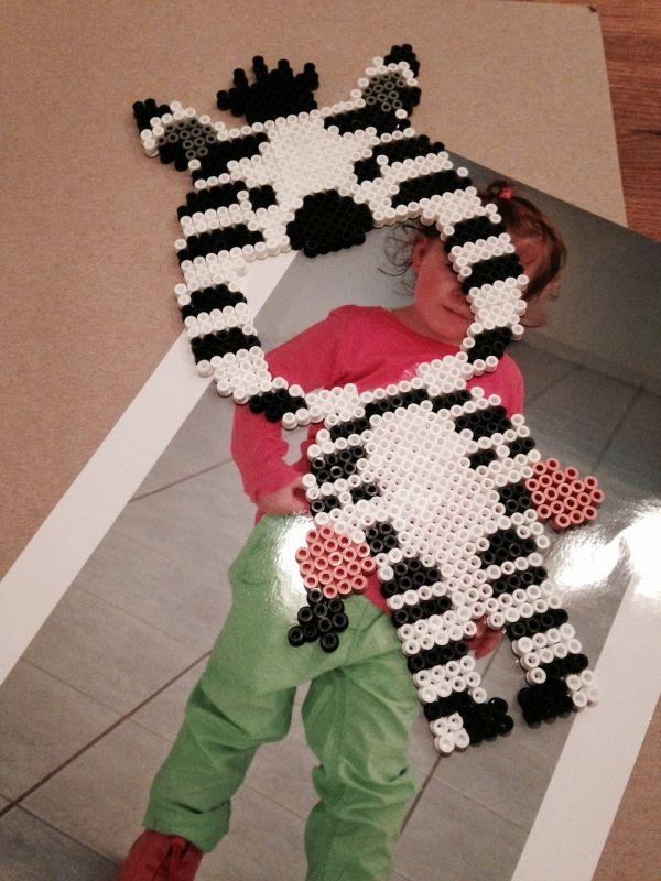 bügelperlen vorlagen | Zebra | Pinterest
