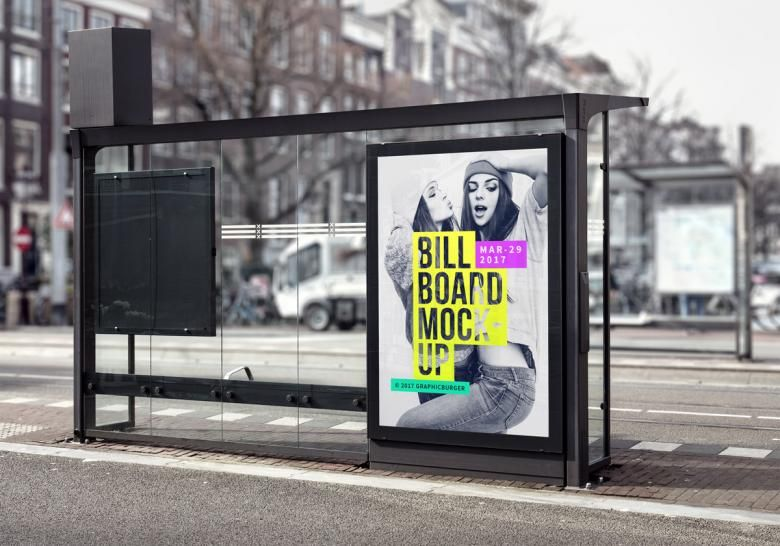 Bus Stop Billboard Psd Mockup Download For Free With Images