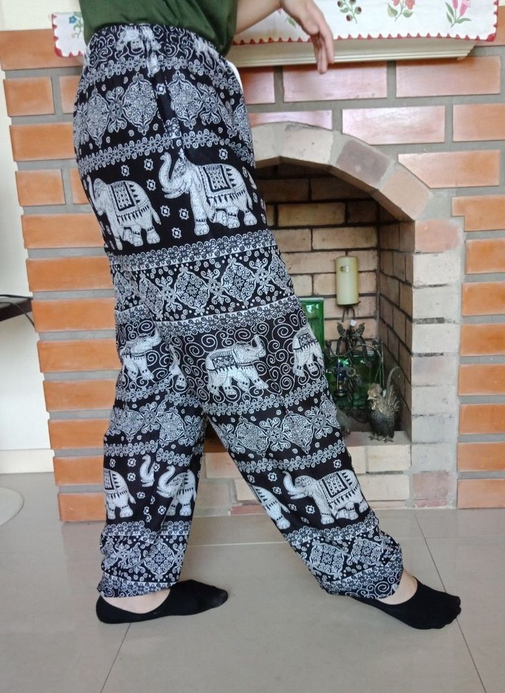 a97766b68102 Thai Pant Harem Hobo Elephant Yoga Aladdin Trousers Jumpsuit Gypsy ...