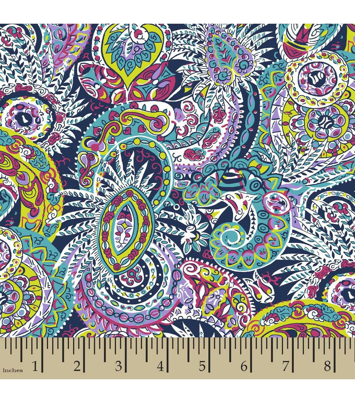 Joann FabricAmelia Paisley Fabric, Cute quilts, Square