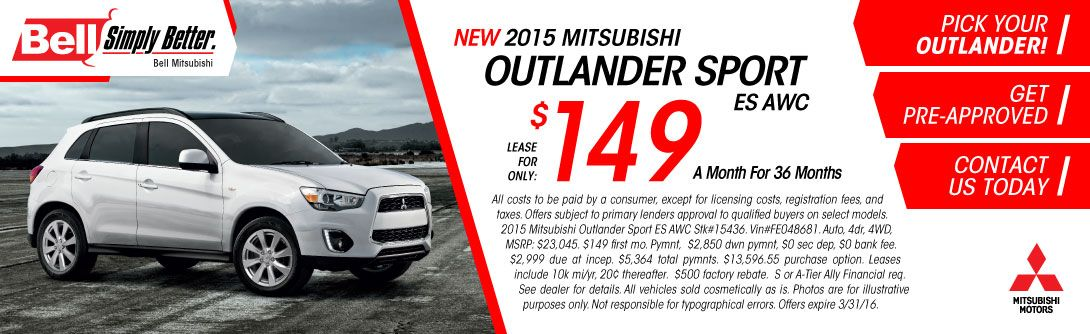 56 Bell Mitsubishi Specials Ideas Mitsubishi Rahway Outlander Sport