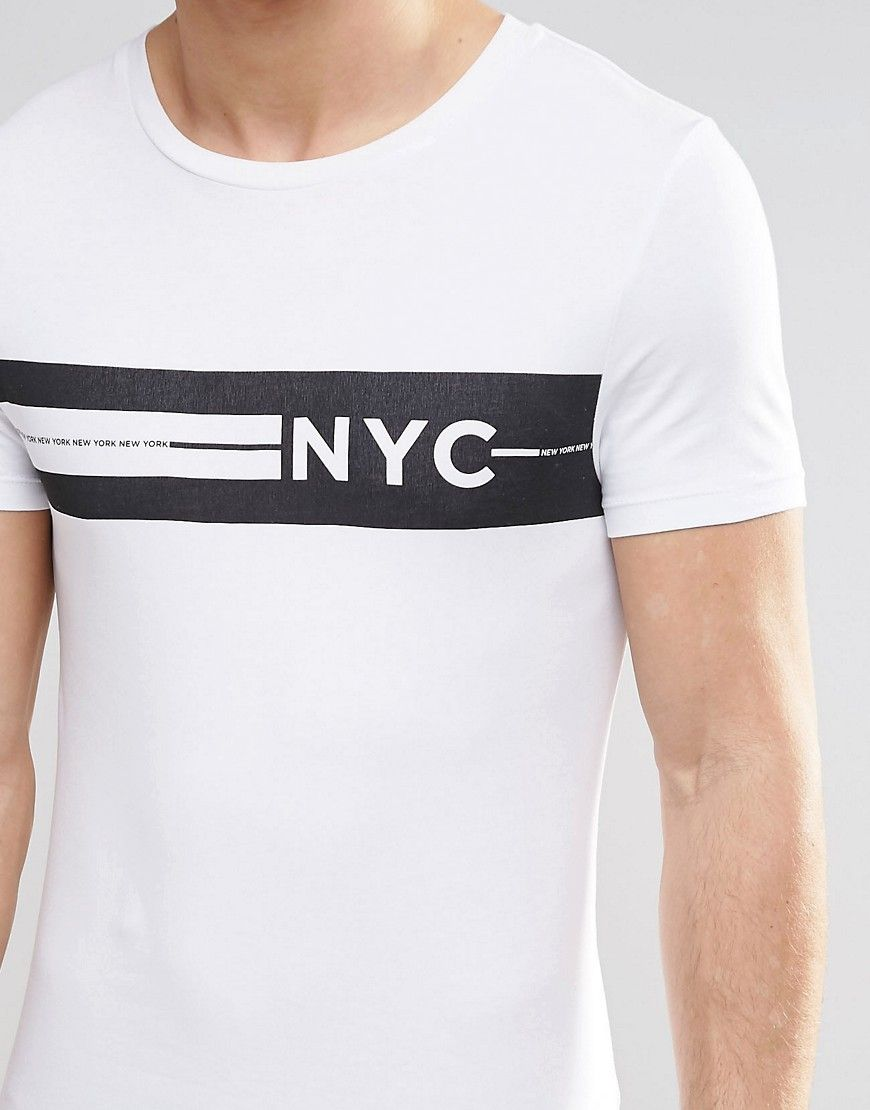 Design a t shirt nyc - Image 3 Of Asos Extreme Muscle T Shirt With Nyc Chest Print