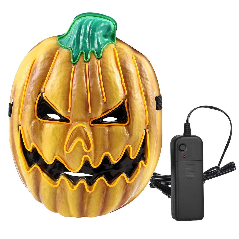 2019 Halloween LED Pumpkin Mask Light Up Mask Cosplay Mask