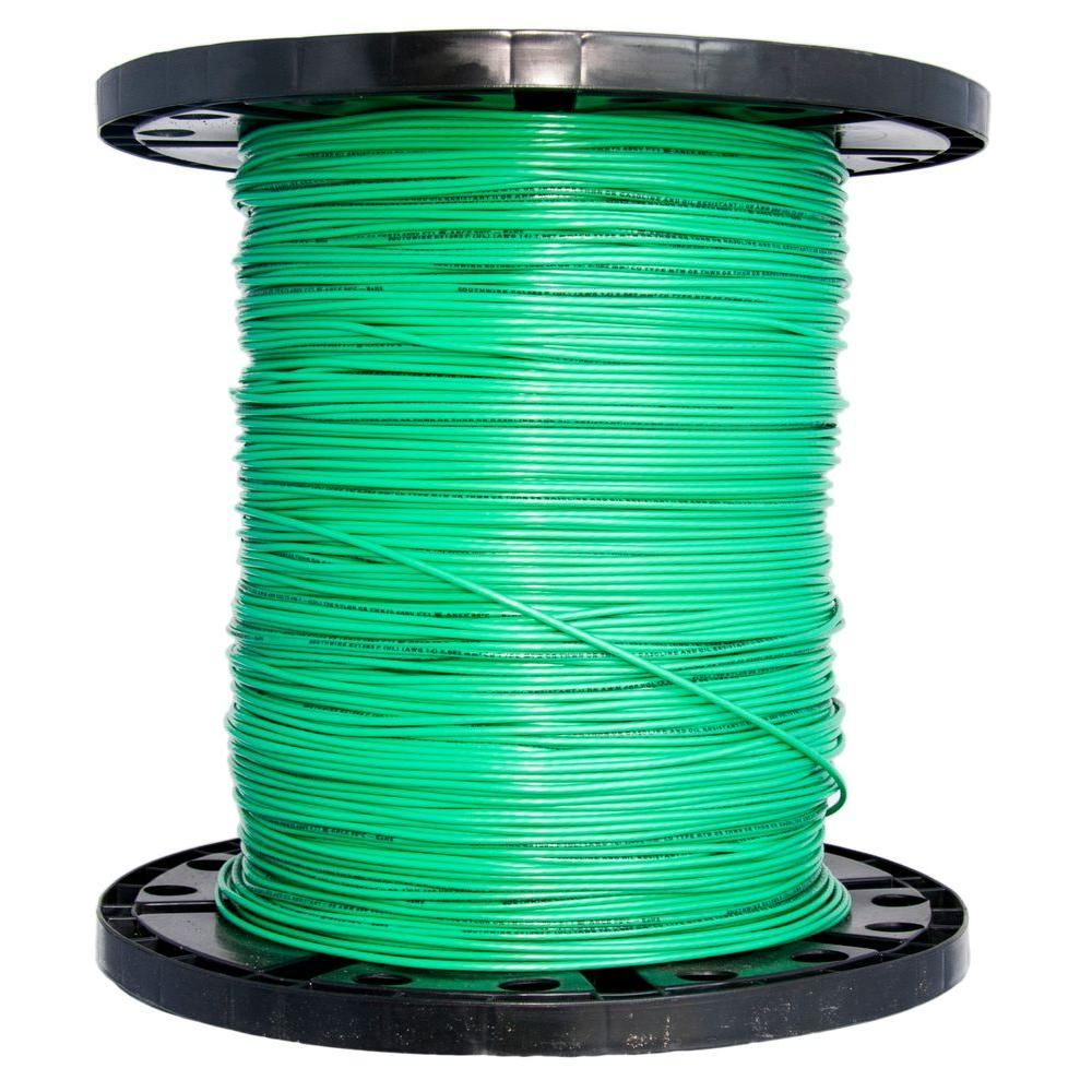 2500 ft. 14 Green Solid CU Thhn Wire | Cable tray and Products