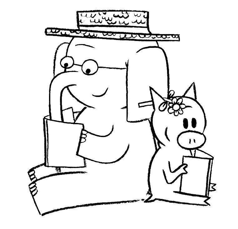 Download Or Print This Amazing Coloring Page Elephant And Piggie Coloring Page Piggie And Elephant Mo Willems Elephant Coloring Page