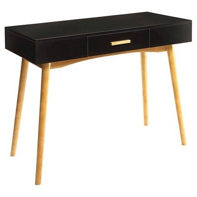Oslo 1 Drawer Desk Black Convenience Concepts Target Desk With Drawers Black Writing Desk Desk