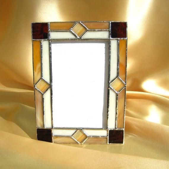 November 4 x 6 Stained Glass Picture Frame | Portarretrato, Espejo y ...